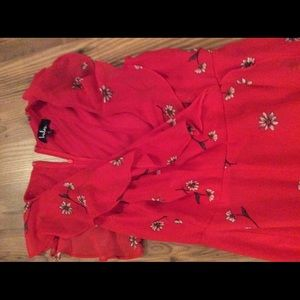 Lulu's Dresses - Red fit and flare Dress